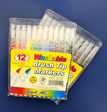 Brush Tip Markers - 6/12ct
