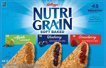 Whole Grain Kellogg's Nutri-Grain Bars (KD) - 96ct.